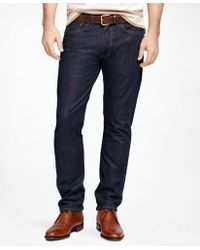 Brooks Brothers | Supima® Denim Straight Fit Jeans | Lyst
