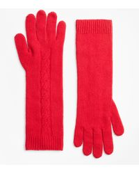 Brooks Brothers - Cable-knit Cashmere Gloves - Lyst