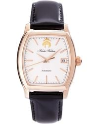 Brooks Brothers - Rectangular Watch With Calfskin Band - Lyst