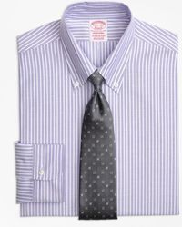 Brooks Brothers - Original Polo® Button-down Oxford Traditional Relaxed-fit Dress Shirt, Ground Stripe - Lyst