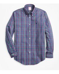 Brooks Brothers - Non-iron Madison Fit Multi-plaid Sport Shirt - Lyst