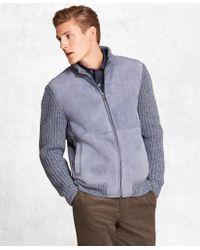 Brooks Brothers - Golden Fleece® Shearling Zip-up Cardigan Jacket - Lyst
