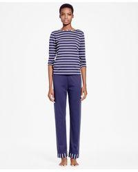 Brooks Brothers - Striped Interlock Pima Cotton Pyjama Set - Lyst