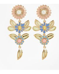 Brooks Brothers - Floral Drop Earrings - Lyst