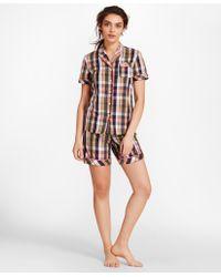 Brooks Brothers - Madras Cotton Poplin Pajamas - Lyst