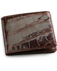 Brooks Brothers - Alligator Card Case With Money Clip - Lyst