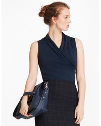 Brooks Brothers - Jersey Faux Wrap Shell - Lyst