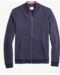 Brooks Brothers - French Terry Baseball Jacket - Lyst