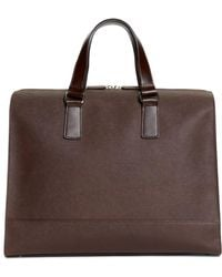 Brooks Brothers - Saffiano Leather Slim Briefcase - Lyst