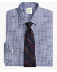 Brooks Brothers - Stretch Milano Slim-fit Dress Shirt, Non-iron Glen Plaid - Lyst