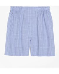 Brooks Brothers - Traditional Fit Mini Check Boxers - Lyst