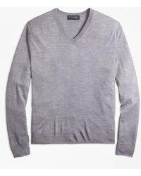 Brooks Brothers - Merino Wool V-neck Sweater - Lyst