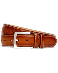Brooks Brothers - Fish Tail Braided Leather Belt - Lyst