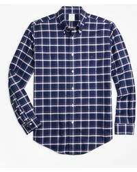 Brooks Brothers - Non-iron Milano Fit Check Sport Shirt - Lyst