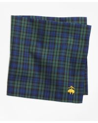 Brooks Brothers - Black Watch Pocket Square - Lyst