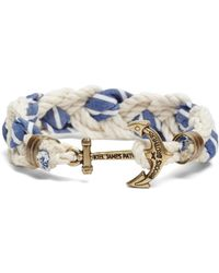 Brooks Brothers | Kiel James Patrick Seersucker Stripe Braided Bracelet | Lyst