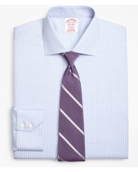 Brooks Brothers - Madison Classic-fit Dress Shirt, Non-iron Two-tone Graph Check - Lyst