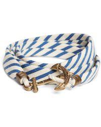 Brooks Brothers - Kiel James Patrick Blue And White Seersucker Lanyard Hitch Cord Bracelet - Lyst