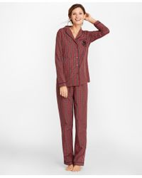 Brooks Brothers - Tartan Cotton Poplin Pajama Set - Lyst