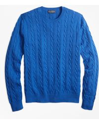 Brooks Brothers - Supima® Cotton Cable Crewneck Jumper - Lyst