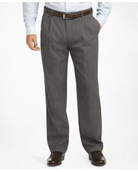 Brooks Brothers - Madison Fit Pleat-front Classic Gabardine Trousers - Lyst