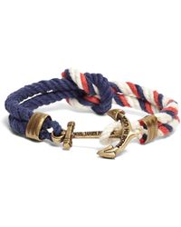 Brooks Brothers - Kiel James Patrick Red Navy And White Triton Bracelet - Lyst