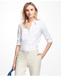 Brooks Brothers - Petite Non-iron Fitted Dress Shirt - Lyst