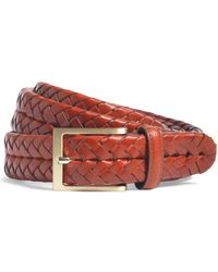 Brooks Brothers - Leather Braided Belt - Lyst