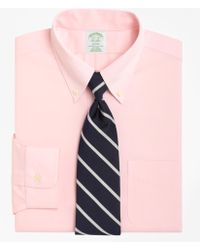 Brooks Brothers - Non-iron Milano Fit Button-down Collar Dress Shirt - Lyst
