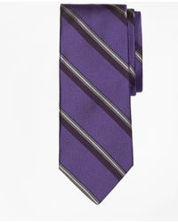 Brooks Brothers - Textured Split Sidewheeler Stripe Tie - Lyst