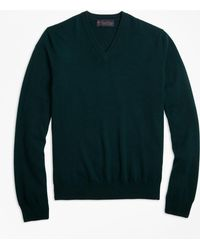 Brooks Brothers - Two-ply Cashmere V-neck Sweater - Lyst