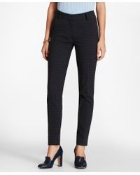 Brooks Brothers - Plaid Stretch-cotton Jacquard Ankle Pants - Lyst