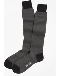 Brooks Brothers | Cotton Bird's-eye Over-the-calf Socks | Lyst