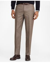 Brooks Brothers - Milano Fit Stretch Flannel Trousers - Lyst