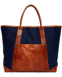Brooks Brothers - Canvas And Leather Tote - Lyst