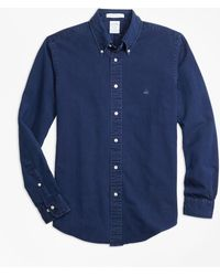 Brooks Brothers - Regent Fit Indigo Dyed Sport Shirt - Lyst