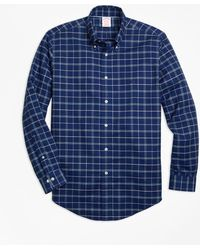 Brooks Brothers - Non-iron Madison Fit Windowpane Sport Shirt - Lyst
