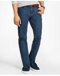 Brooks Brothers - 901 Slim Straight Stretch Jeans In Indigo Denim - Lyst
