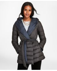 Brooks Brothers - Reversible Water-repellent Down-filled Wrap Coat - Lyst