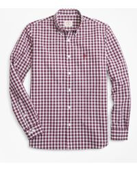 Brooks Brothers - Gingham Broadcloth Sport Shirt - Lyst