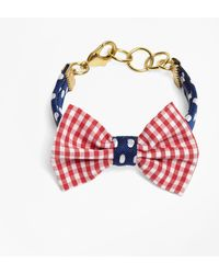 Brooks Brothers | Kiel James Patrick Gingham And Polka Dot Bow Tie Bracelet | Lyst