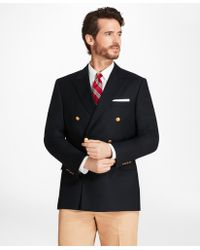 Brooks Brothers - Country Club Regent Fit Saxxontm Wool Double-breasted Blazer - Lyst