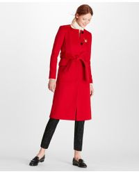 Brooks Brothers - Brushed Wool Twill Wrap Coat - Lyst