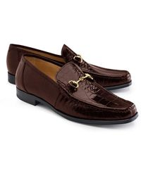 Brooks Brothers - Genuine American Alligator Classic Bit Loafers - Lyst