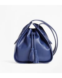 Brooks Brothers - Leather Cross-body Bucket Bag - Lyst