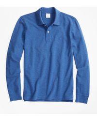 Brooks Brothers - Slim Fit Supima® Long-sleeve Performance Polo Shirt - Lyst