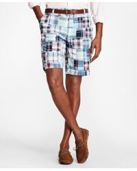 Brooks Brothers - Patchwork Madras Shorts - Lyst
