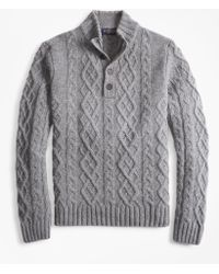 Brooks Brothers - Cable Mockneck Sweater - Lyst