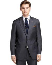 Brooks Brothers | Regent Fit Saxxon Wool Light Blue Stripe 1818 Suit | Lyst