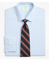 Brooks Brothers - Milano Slim-fit Dress Shirt, Non-iron Houndstooth Overcheck - Lyst